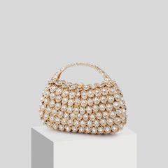 Luxe Doré Perlage Faux Diamant Pochette 2019