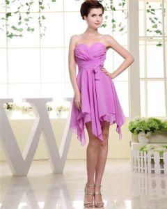 Vestido De Cóctel De Gasa Asimétrica Mujer De La Colmena Del Amor