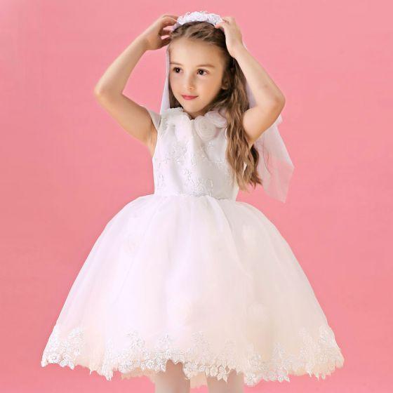 Spitze Blumenmädchen Kleid Rock Prinzessin Kleid Kommunionkleider