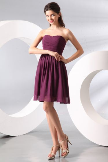 2015 Smooth Sweetheart Zipper Knee-length Bridesmaid Dress