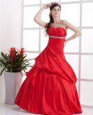 Ball Gown ALine Sweetheart Floor Length Beaded Taffeta Custom Prom Quinceanera Prom Dresses