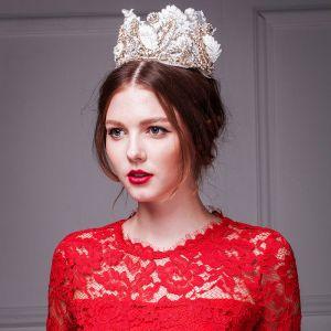 Luxe Kant Diamanten Kroon / Plus Size Tiara