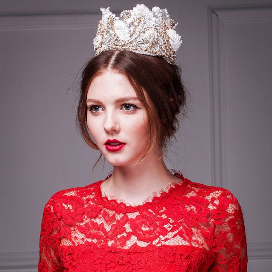 Luxe Kant Diamanten Kroon / Plus Size Tiara