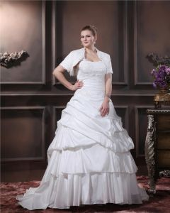Layered Ruffle Une Cour D'epaule Plus La Taille Robe De Mariage Nuptiale Robe