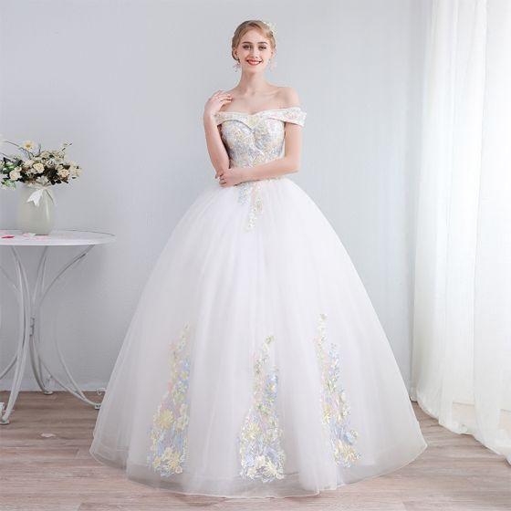 colores marfil vestidos de novia 2019 a-line / princess fuera del