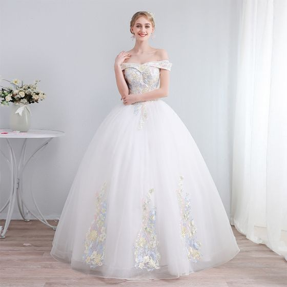 Vestidos de novia color marfil 2019