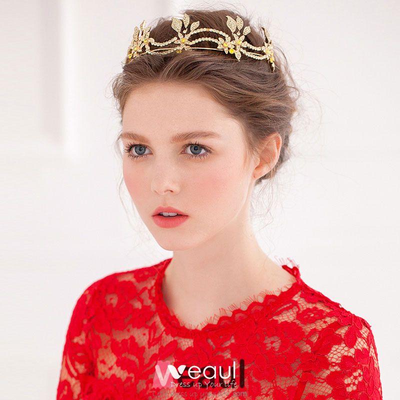 Elegant Vintage German Myrtle Wedding Crown with Partner Brooch~50th Wedding Anniversary Crown~Bridal Crown~ Elegant Golden Myrtle Crown