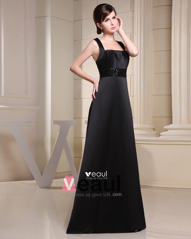 Spaghetti Straps Zipper Paillette Floor length Chiffon Silk Charmeuse Sleeveless Woman Bridesmaid Dress