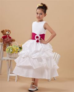 Lovely Satin Handmade Flower Girl Dresses