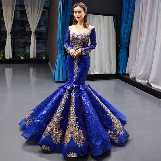 Vestidos azul royal 2020