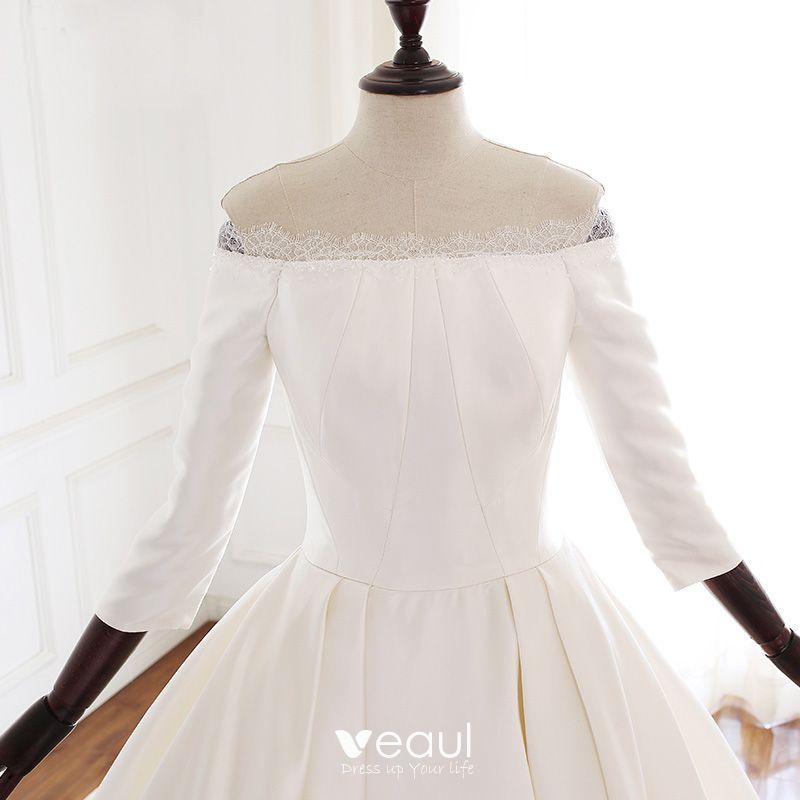 Vintage / Retro Ivory Audrey Hepburn Style Wedding Dresses