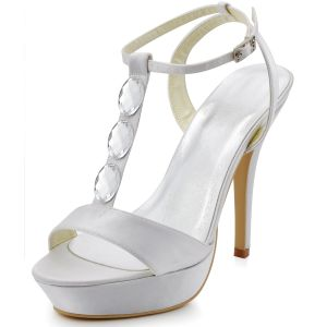 New Handmade Elegant Satin Wedding Shoes Party Shoes