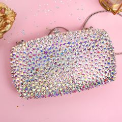Sparkly Multi-Colors Rhinestone Clutch Bags 2019