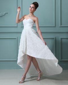 Amoureux De Lacet Mini Robes De Mariage Asymetriques