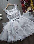2015 Three Styles Of Fashionable Mini Dress Lace Organza Cocktail Dress