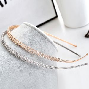 Modest / Simple Rhinestone Hair Hoop Headpieces 2020 Metal Bridal Hair Accessories