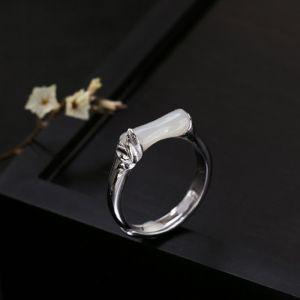 Chinese Stijl Zilveren Handgemaakt Lucky Geloof Ring Sterling zilver werk Holiday Ringen 2019 Accessoires