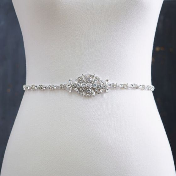 Flotte Ivory Bryllup Skærf  2020 Satin Metal Beading Krystal Rhinestone Galla Selskabs Accessories