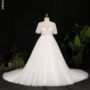 Ivory Satin Wedding Dresses 2020