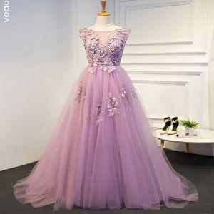 lila jurken