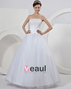 Elegante Vestido Bordado De Tul Vestido De Boda De Bola