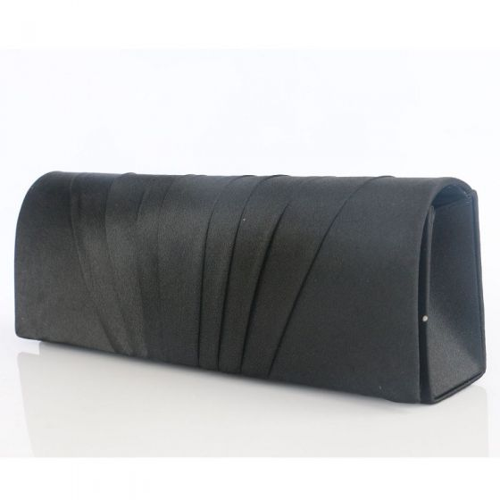 Modest / Simple Black Clutch Bags Striped Velour Wedding Cocktail Party Evening Party Accessories 2019