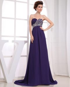 Chiffon Silk Like Satin Silk Ruffle Beading Sweetheart Floor Length Pleated Cocktail Dress