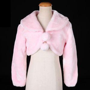 White Flower Girl Plush Cloak Cloak Cape