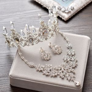 Silver Crystal Tiara Sparkly 2017 Bridal Jewelry