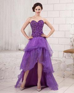 Długosc Stylowe Podlogi Linke Wzburzyc Satyna Bez Ramiaczek Pociag Gaza Katedra Suknie Balowe Sukienki Na Bal