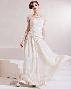 Charmeuse Beading Jewel Sleeveless Floor Length Pleated Evening Dress