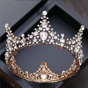 Luxe Zilveren Bruidssieraden 2017 Metaal Kristal Rhinestone Handgemaakt Haaraccessoires Huwelijk Gala Accessoires