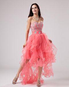Colmena Hilo Vestidos De Cóctel Abalorios Cariño Tobillo Longitud Prom