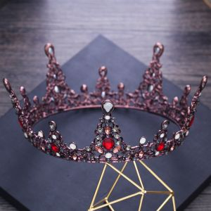 Vintage / Retro Baroque Grape Metal Tiara 2018 Crystal Rhinestone Accessories