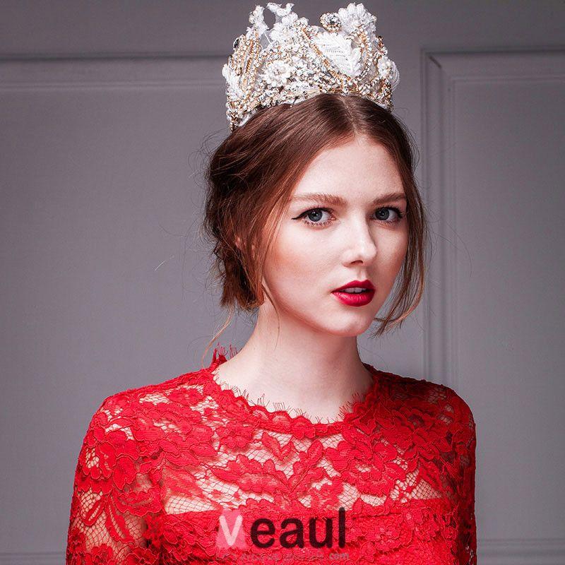 Luxury Lace Diamond Crown /Plus Size Tiara