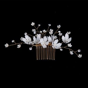Flower Fairy Gold Headpieces Bridal Hair Accessories 2020 Metal Flower Rhinestone Bridal Accessories