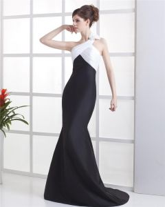 Taffeta One Shoulder Floor Length Evening Party Dresses