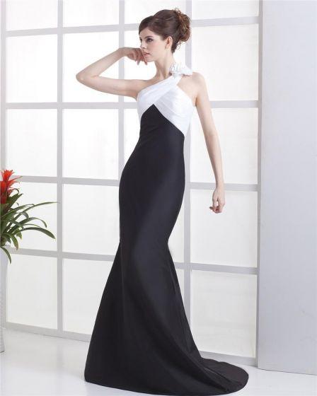 Taffeta One Shoulder Floor Length Evening Party Dresses