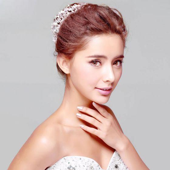 Hvid Perle Brude Smykker Bryllup Tiara