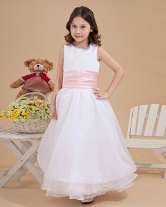 Yarn Round Collar Flower Girl Dresses