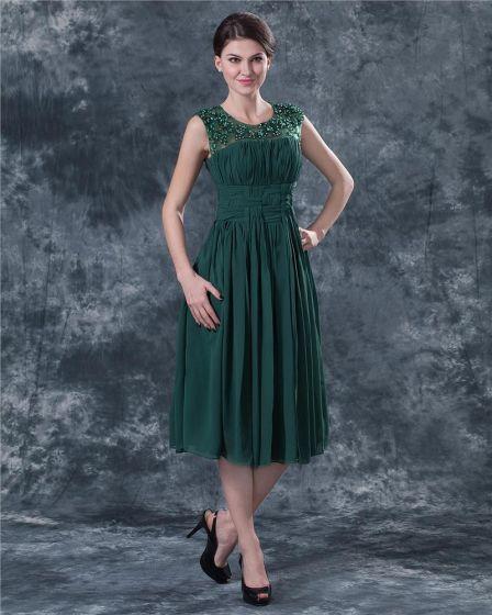 Sabrina Short Mini Chiffon Beading Mothers Special Guests Dresses