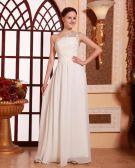 Stylish Ruffle Beading Sleeveless Floor Length Chiffon Celebrity Dress