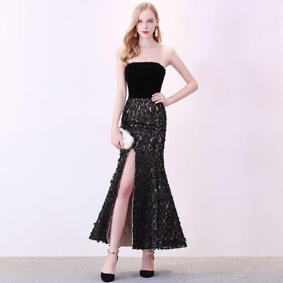 17d2d605104 sexy-black-evening-dresses-2018-trumpet-mermaid-suede-appliques-strapless -backless-sleeveless-ankle-length-formal-dresses-560x560.jpg