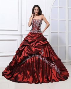 Satin Ruffles Applique Court Empire Prom Dresses