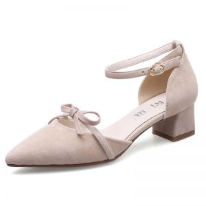 Chic / Beautiful Leather Womens Shoes 2017 Outdoor / Garden Sandals Suede Mid Heels Pointed Toe