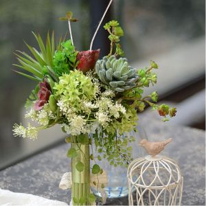 Succulents Boutique Bridal Bouquets Holding Flowers For Party Wedding Flowers