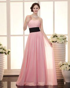 Rüsche-schatz-ausschnitt Reißverschluss Chiffon Frauen Abend Partykleid