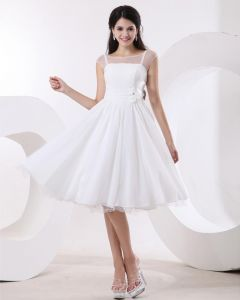 Elegant Jewel Sleeveless Satin Organza Party Dress Graduation Dresses