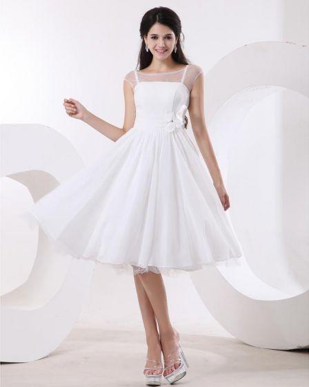 Elegant Jewel Sleeveless Satin Organza Party Dress Graduation Dresses