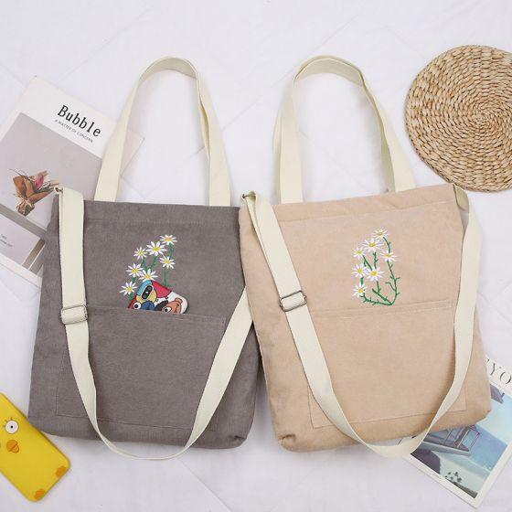 Schön Quadratische Schultertaschen Einkaufstasche Umhängetasche 2021 Segeltuch Freizeit Damentaschen